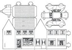 Image result for Printable Templates for Putz Houses