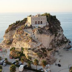 Castle on the Beach, Tropea, Italy:  I'd be afraid this would fall away.