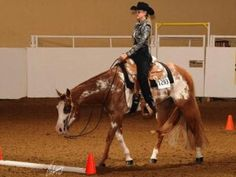 S.I.Supermodel Kate Upton showing her Western Riding skills during APHA competition.