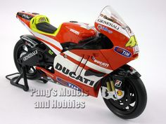 NewRay 1/12 scale model motorcycles are highly detailed and measure approximately 6.5 inches long by 4.5 inches high by 2 inches wide. They are made of a combination of die cast metal and plastic part