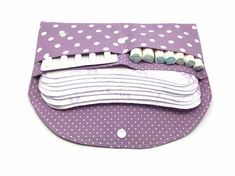 LILA – pouch for hygienic care Small Sewing Projects, Sewing Hacks, Sewing Crafts, Diy Projects, E Cosmetics, Sewing To Sell, Purse Organization, Sewing Studio, Diy Clothes