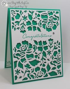 Stampin' Up! Floral Phrases Thank You & Congratulations Cards