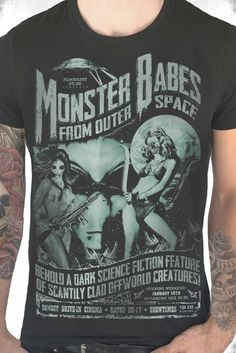 ee3a49c5471 Monster Babes Pulp Horror Psychobilly Grapic T Shirt