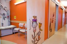Seattle Children's Hospital Bellevue Clinic on Behance Medical Office Design, Pharmacy Design, Lobby Interior, Interior Design, Children's Clinic, Hospital Design, Clinic Design, Treatment Rooms