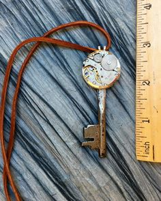 SOLD Men's Silver Steampunk Key Necklace by RetroHippieUnlimited