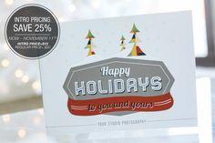 Studio Holiday Greetings Card | Design Aglow