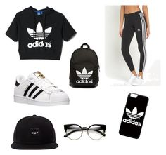 """Adidas "" by laurynmillerofficial on Polyvore featuring adidas and adidas Originals"