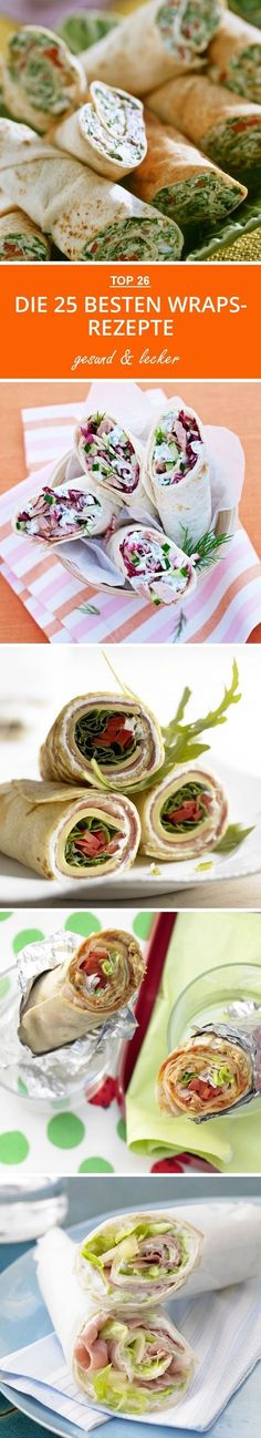 The best wrap recipes - The 25 best wraps recipes eatsmarter. Food To Go, Good Food, Food And Drink, Party Finger Foods, Party Snacks, Sandwich Recipes, Pizza Recipes, Best Pancake Recipe, Lunch Boxe