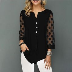Mode Outfits, Sexy Outfits, Casual Outfits, Fashion Outfits, Fashion Clothes, Womens Fashion, Xl Fashion, Casual Shirt, Fashion Online