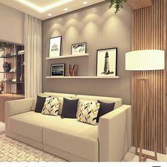 A imagem pode conter: sala de estar e área interna - Cozinha - Home Room Design, Home Interior Design, Living Room Designs, Living Room Tv, Home And Living, Living Room Colors, House Rooms, Home Decor, Sweet