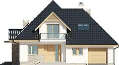 Projekt domu Amira G1 153,04 m2 - koszt budowy - EXTRADOM Modern Bungalow Exterior, Home Fashion, Shed, Villa, Outdoor Structures, Cabin, Mansions, House Styles, Home Decor