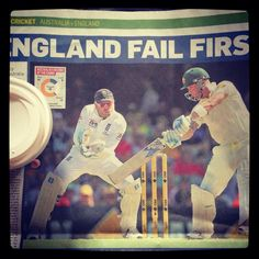 Sunday papers #ashes