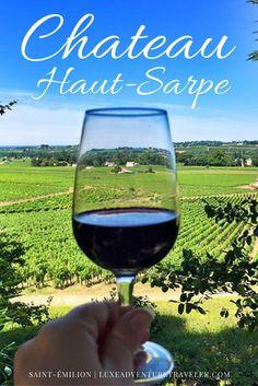 Visit Chateau Haut-Sarpe, the oldest wine estate in #SaintEmilion in the #Bordeaux wine region
