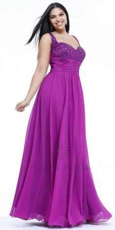 Sequin Ruched Plus Size Evening Dresses by Faviana