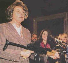 Diane Feinstein on gun safety.