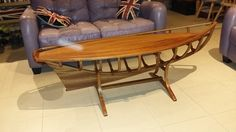 Wooden coffee table Pilot boat by woodbyfudge on Etsy