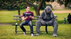 Elijah Wood and Jason Gann share spaghetti in new Wilfred video!