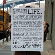 Live passionately!