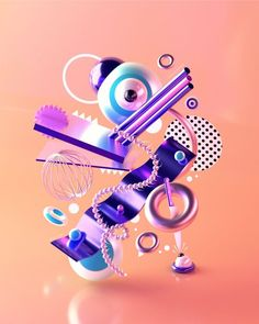Collection of ongoing personal experiments with illustration, typography and colour created during the first half of year Graphic Design Fonts, Graphic Design Illustration, Digital Illustration, Graphic Art, Cinema 4d Render, 3d Studio, 3d Artwork, Interactive Design, Motion Design