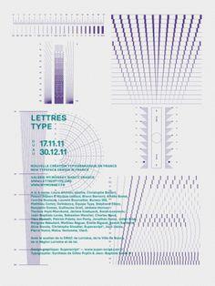 Lettres Type  Design graphique — affiche