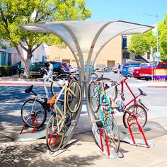 Bike Arc - The Umbrella Arc joins together eight bicycle rac.- Bike Arc – The Umbrella Arc joins together eight bicycle racks and is our most s… Bike Arc – The Umbrella Arc joins together eight bicycle racks and is our most space-efficient design. Velo Design, Design Logo, Bicycle Design, Design Art, Design Ideas, Bicycle Storage, Bicycle Rack, Bicycle Stand, Bicycle Shop