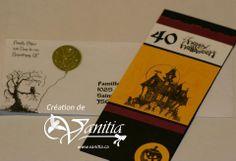 Invitation 40e anniversaire - Thème Halloween
