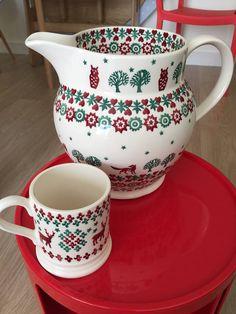Emma Bridgewater Christmas Joy Personalised 6 Pint Jug and Christmas Joy Christmas Jumper 0.5 Pint Mug 2014