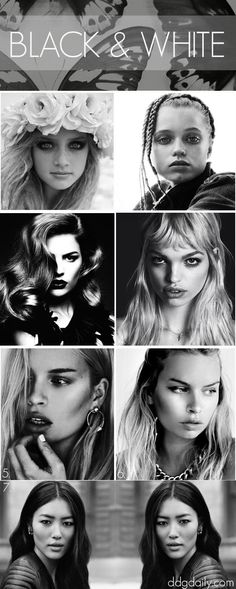 Black & White: A DDG Moodboard full of monochromatic beauty looks - dropdeadgorgeousdaily.com