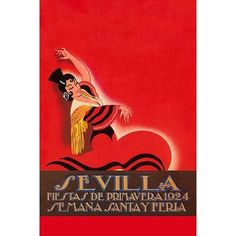 "Buyenlarge 'Sevilla - Saints Week Fair' by Sara Pierce Vintage Advertisement Size: 66"" H x 44"" W"