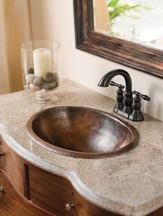 Visit The Home Depot To Ecosinks Undercounter Bathroom Sink In Hammered Aged Copper