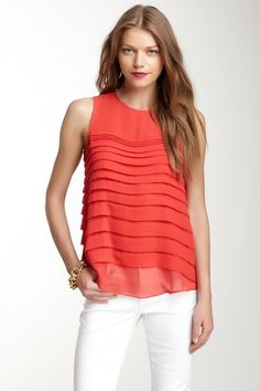 Tiered Pleat Blouse