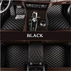 Leather Trim Black Premier Carpet Car Mats for VW Beetle LHD Up to 98