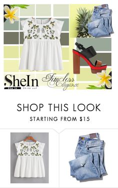 """""""White Top - Shein"""" by anchesky23 on Polyvore featuring Michael Kors"""