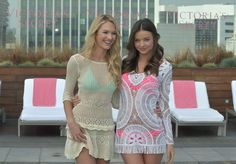 Miranda Kerr and Candice Swanepoel Launch the 2012 VS Swim Collection