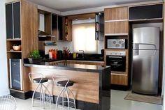Resultado de imagem para cozinha apartamento em l