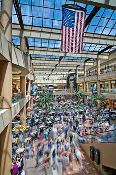 The Scottsdale Fashion Square Mall, the largest shopping complex in the Southwest.