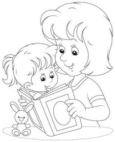 Vector Preto E Branco - Millions of Creative Stock Photos, Vectors, Videos and Music Files For Y. Coloring Pages Winter, Disney Coloring Pages, Colouring Pages, Coloring For Kids, Adult Coloring, Coloring Books, Preschool Colors, Art Drawings Sketches Simple, Mom Day