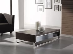 Highlights: Modern design Steel feet Durable construction Matching end table is available Measurements: Coffee Table: W 47.25 xD 27.5 xH 13.5 End Table: W 31.5 xD 31.5 xH 19
