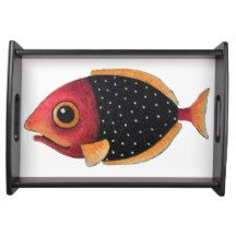 Spotted Fish Tray Serving Trays