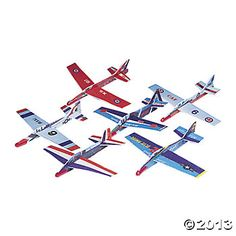Vintage Airplanes Airplane Gliders - Get your party flying high when you add our Airplane Gliders to your party favors! Cool toys for kids, these gliders are a perfect party activity when . Vintage Airplane Party, Vintage Airplanes, Airplane Wedding, Top Gun Party, Cheap Toys For Kids, Air Force Birthday, Open A Party, Planes Party, Pig Party