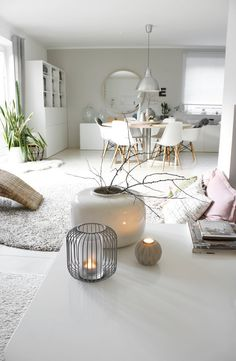 50 Modern Nordic Living Room Design Ideas Its geometric shapes look very attractive in modern houses. The decors of this style create a soothing atmosphere to relax. Nordic Living Room, Interior Design Living Room, Home And Living, Living Room Designs, Living Room Decor, Interior Inspiration, Room Inspiration, Open Space Living, Diy Home Decor
