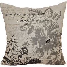 $13.97 Better Homes and Gardens Floral Stamp Pillow