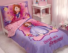 Sofia The First toddler bedding for little girls from @nojo #pnapproved