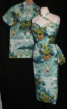 Reserved 1950s vintage inspired Hawaiian wedding by OuterLimitz, £145.00