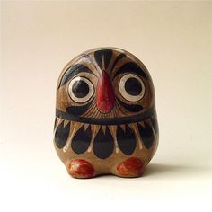 vintage Tonala Style Mexican Pottery Owl by SkinnyandBernie, $24.00