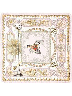 Hermès Vintage - printed silk scarf 8