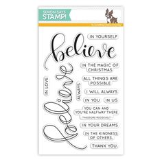 My Wish List: Simon Says Clear Stamps BELIEVE SSS101654 Believe In The Season Preview Image