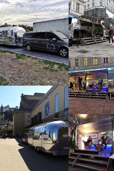 Mieten sie unsere Airstram Mobile Lounge um ihren Produkten die größte Aufmerksamkeit zukommen zu lassen. #airstream #tomsvintagetrailers #noibizatour #Wien #Linz #salzburg  #vermietung #mieten Airstream, Salzburg, Stage, Lounge, Events, Mansions, House Styles, Home, Linz