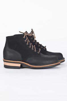a2060fe94b5e Viberg for Meadow - 1950 Service Boot Black Rubberized