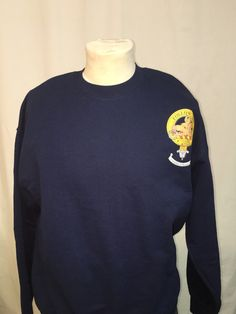 Large navy cotton sw